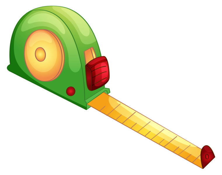 Illustration of a tape measure