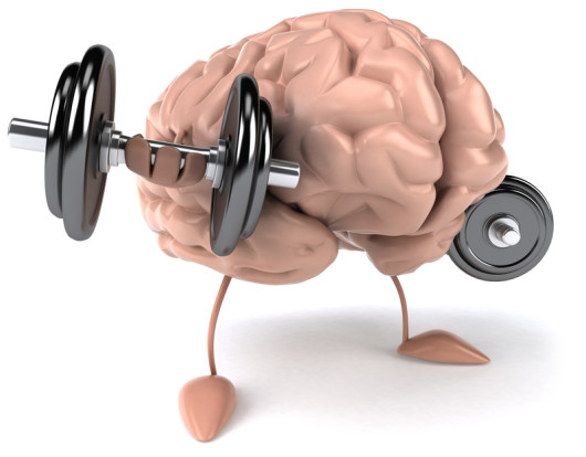 Brain exercise 3d illustration