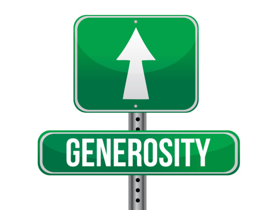 generosity road sign illustration design
