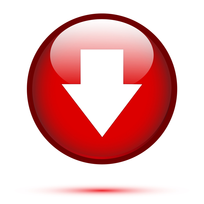 Arrow down on red